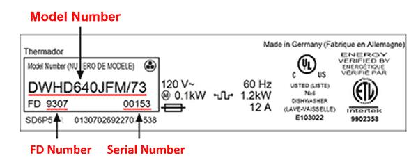 model number tag